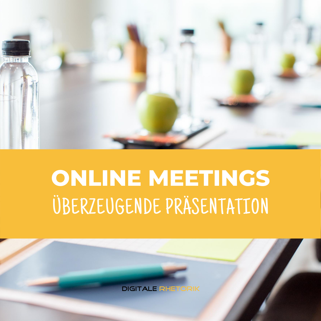 Überzeugende Präsentation in Online Meetings