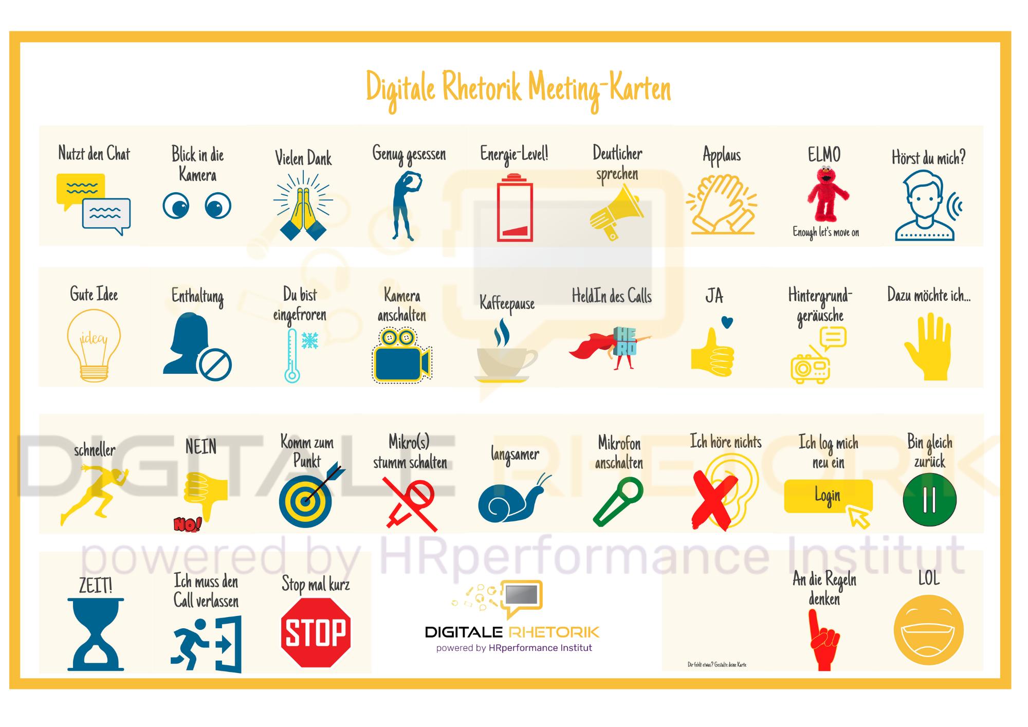 Digitale Rhetorik Meeting Karten